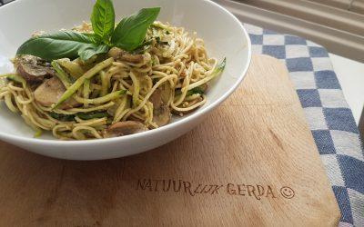 Gerda's pasta pesto #veganfood